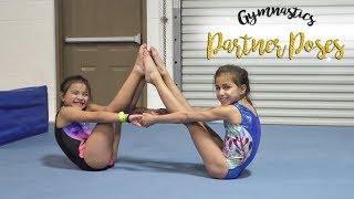 Sisters Try Partner Gymnastics Poses  Sariah SGG gymnastics challenge