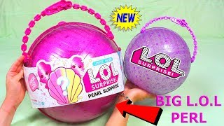 Новый Гигантский Шар ЛОЛ ПЕРЛ 3 Куклы ЛОЛ В 1 Шаре LOL Surprise Giant Ball Pearl  BIG BOLA GIGANTE