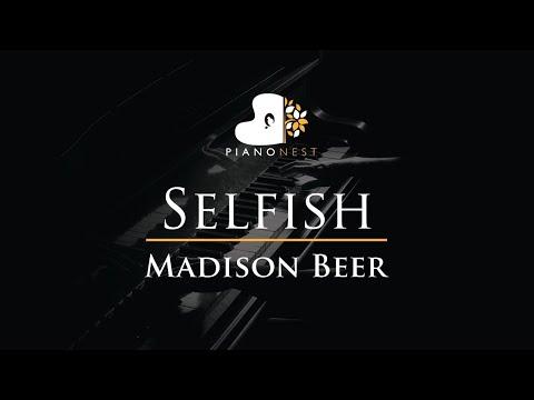 Madison Beer - Selfish - Piano Karaoke Instrumental Cover With Lyrics