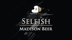 Madison Beer - Selfish - Piano Karaoke Instrumental Cover with Lyrics