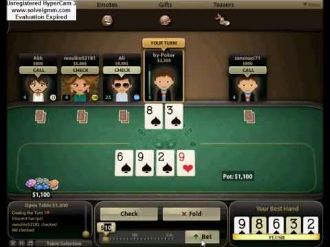 Miniclip-BullFrog Poker- Flush