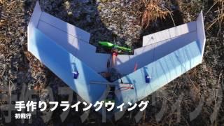 手作りフライングウィング初飛行