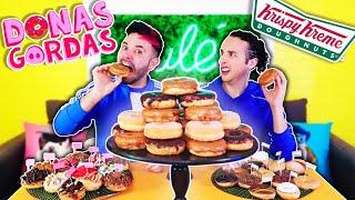 Mezclamos Todas las Donas Gordas VS Krispy Kreme