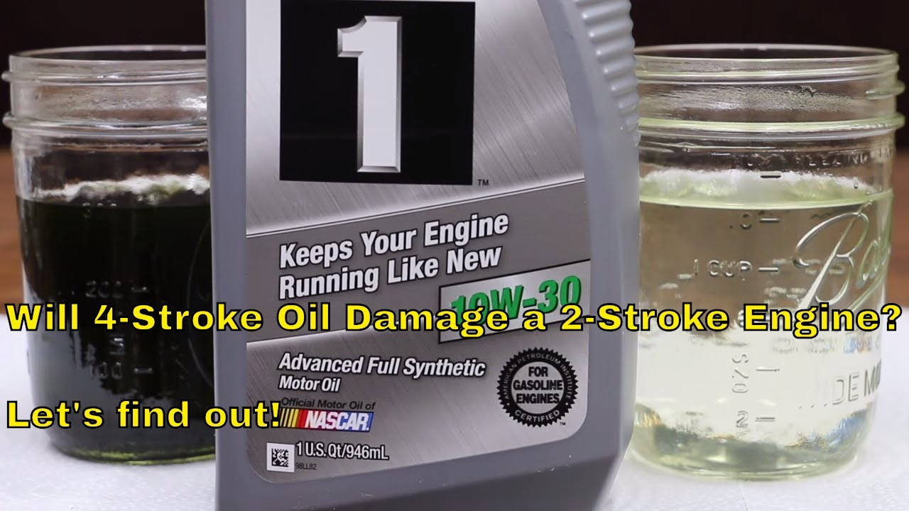 50b4696f9db Will 4-stroke oil damage a 2-stroke engine  Let s find out! - YouTube
