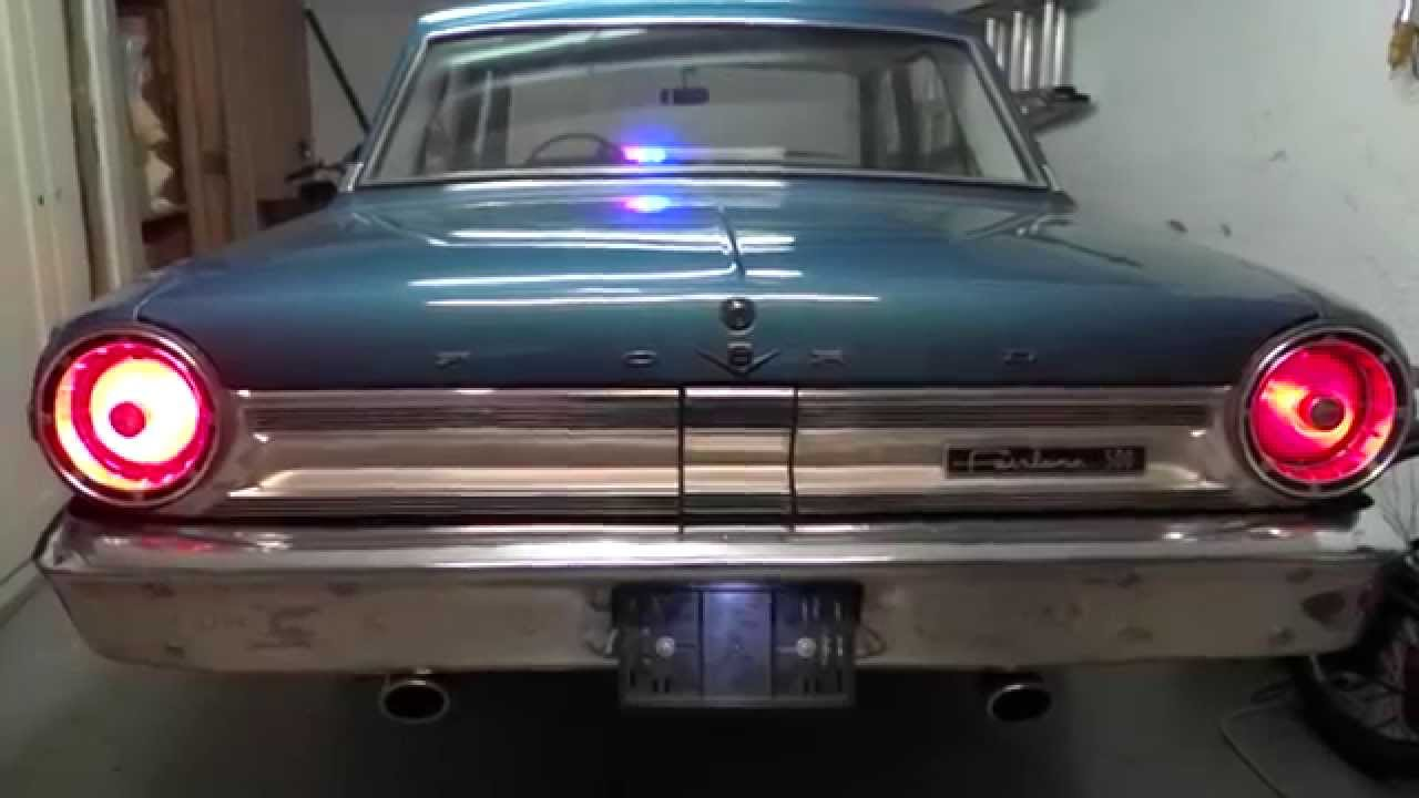Led Lights Conversion Ford Fairlane 500 Youtube 1964 Galaxie Radio Wiring Diagram