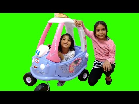 Pink Cozy Coupe Fairy Ride On | Surprise Toy Unboxing & Assembly Playtime Kids Fun Little Tikes