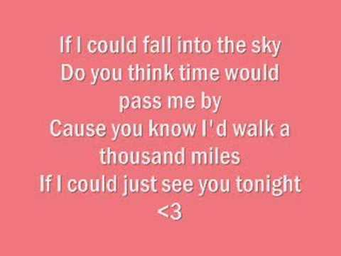 A Thousand Miles, Vanessa Carlton-Lyrics