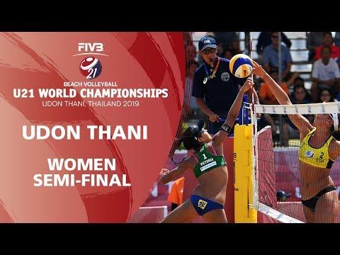 Women's Semi-Final: BRA vs ESP   FIVB Beach Volleyball U21 World Championships 2019   Udon Thani
