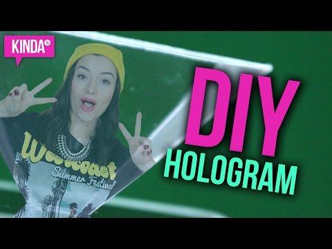 MAKE YOUR OWN DIY HOLOGRAM!! | KindaTV ft. Natasha Negovanlis