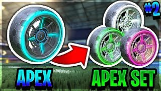 BUILDING STRIKER APEX SET *EP2* | MOST EXPENSIVE SET! (ROCKET LEAGUE BEST TRADES)
