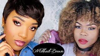 90s Makeup ft Mikail Brown | Lyric Rochester