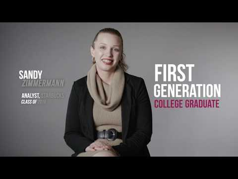 Meet Sandy Zimmermann: First Generation College Graduate