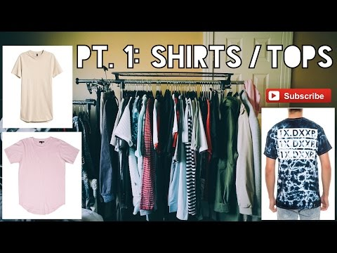 BIGGEST CLOTHING HAUL EVER! (1 YEAR OF CLOTHES) | Pt 1: Shirts/Tops