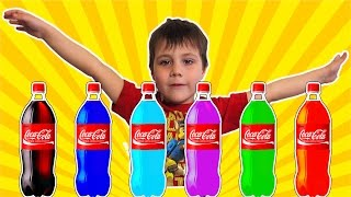 Finger Family Song Learn Colors with Coca Cola Nursery Rhymes Video for Kids Toddlers and Babies