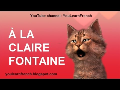 À LA CLAIRE FONTAINE - Comptines Chansons pour enfants French children's songs Translated in English