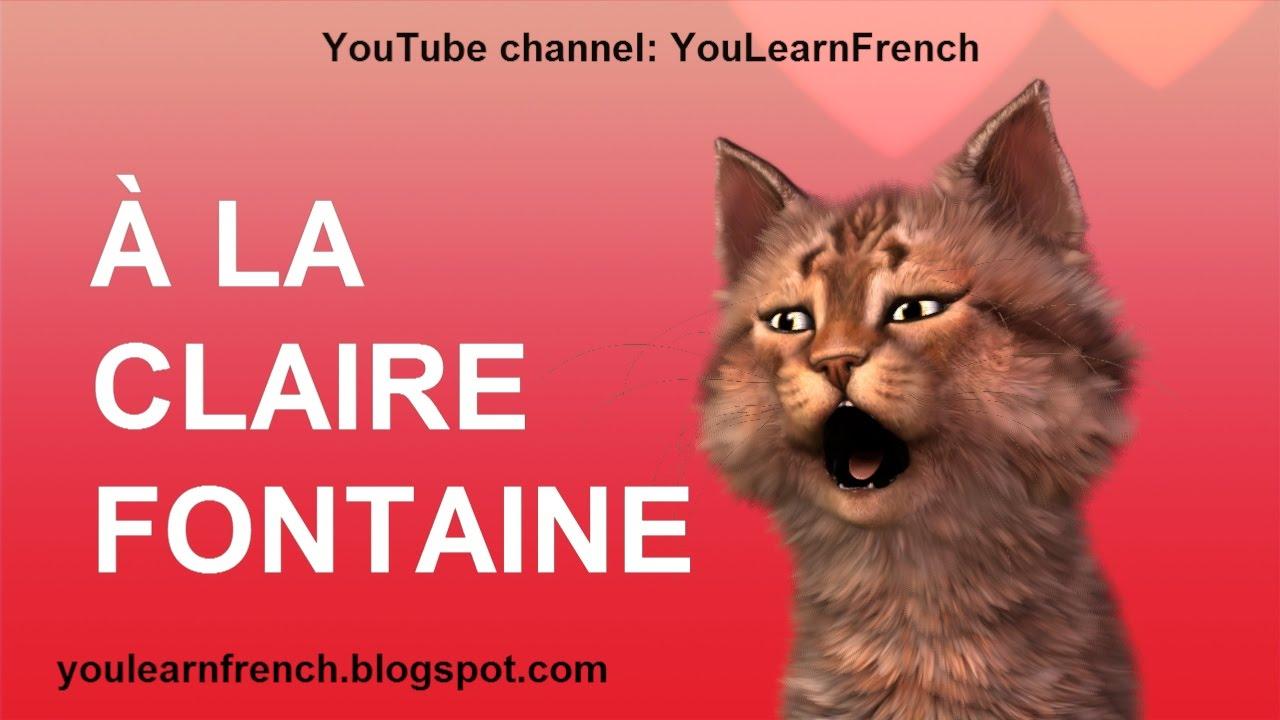 à La Claire Fontaine Comptines Chansons Pour Enfants French