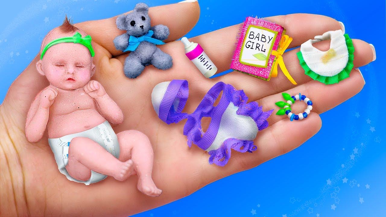 11 Trucos y Manualidades para Muñecas Bebé / ¡Bebé, Cuna y Más Cosas en Miniatura!