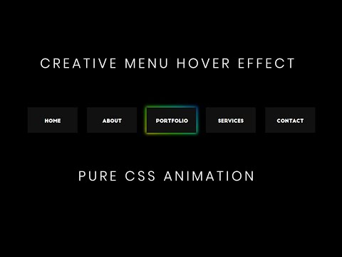 Creative CSS Menu Hover Effect   CSS Menu Hover Effects
