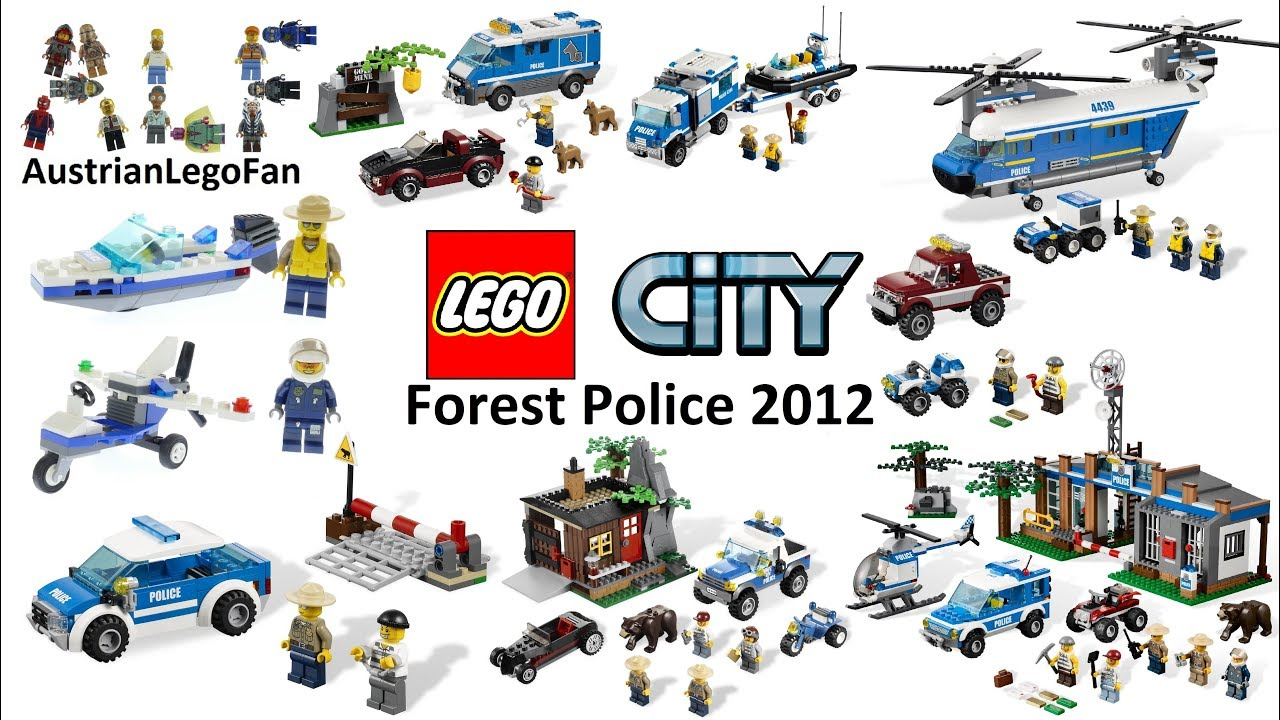 All Lego City Forest Police Sets 2012 Lego Speed Build Review