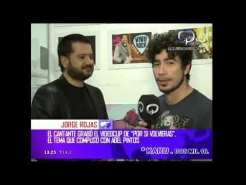 Jorge Rojas en Q noticias por canal Quiero Música  02-09-2016 !!!