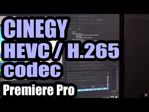 Cinegy HEVC (H.265) codec for Premiere Pro (uses Less CPU, more GPU, 2.5X faster exporting)