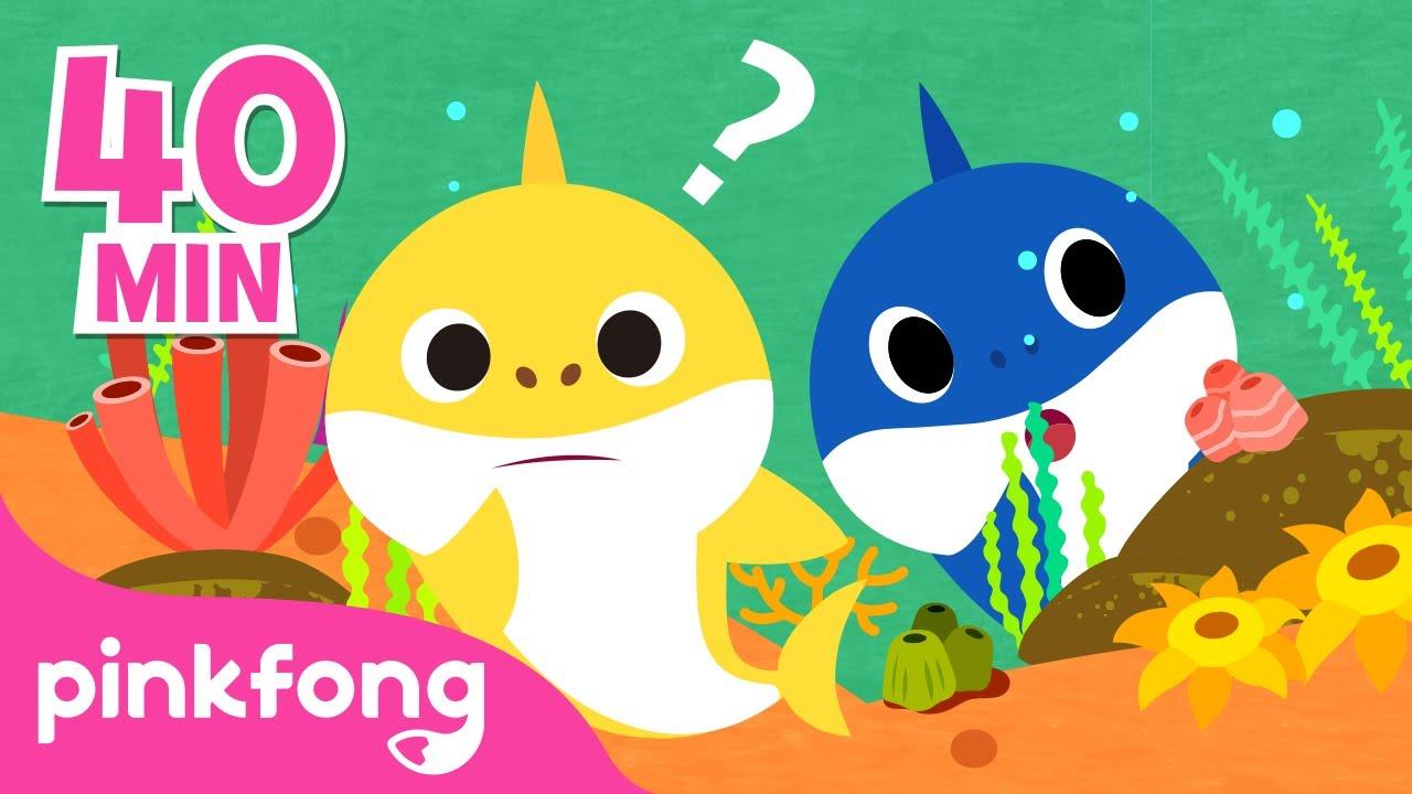 Onde está o Papai Tubarão? e mais músicas infantis | +Compilação | Pinkfong Canções para crianças