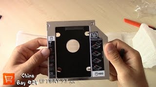 ChinaBay #24. Optibay 2nd SSD HDD Caddy 9.5 mm SATA 3.0