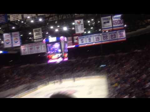 Post-Game Celebration 2015 Game 3 Islanders Capitals Nassau Coliseum