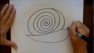 How To Draw A Snail Step By Step Cartoon Easy Art Lesson For Children
