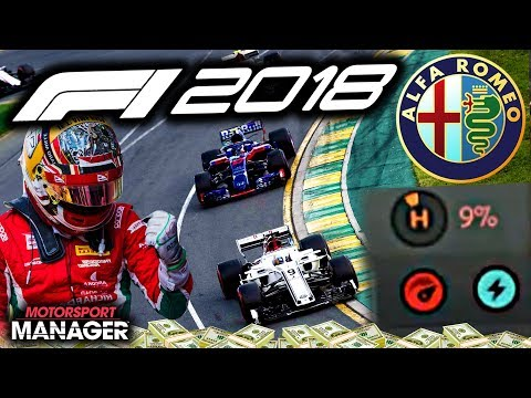9% TYRE WEAR RISKY STRATEGY GAMBLE! - F1 2018 Alfa Romeo Manager Career Part 29