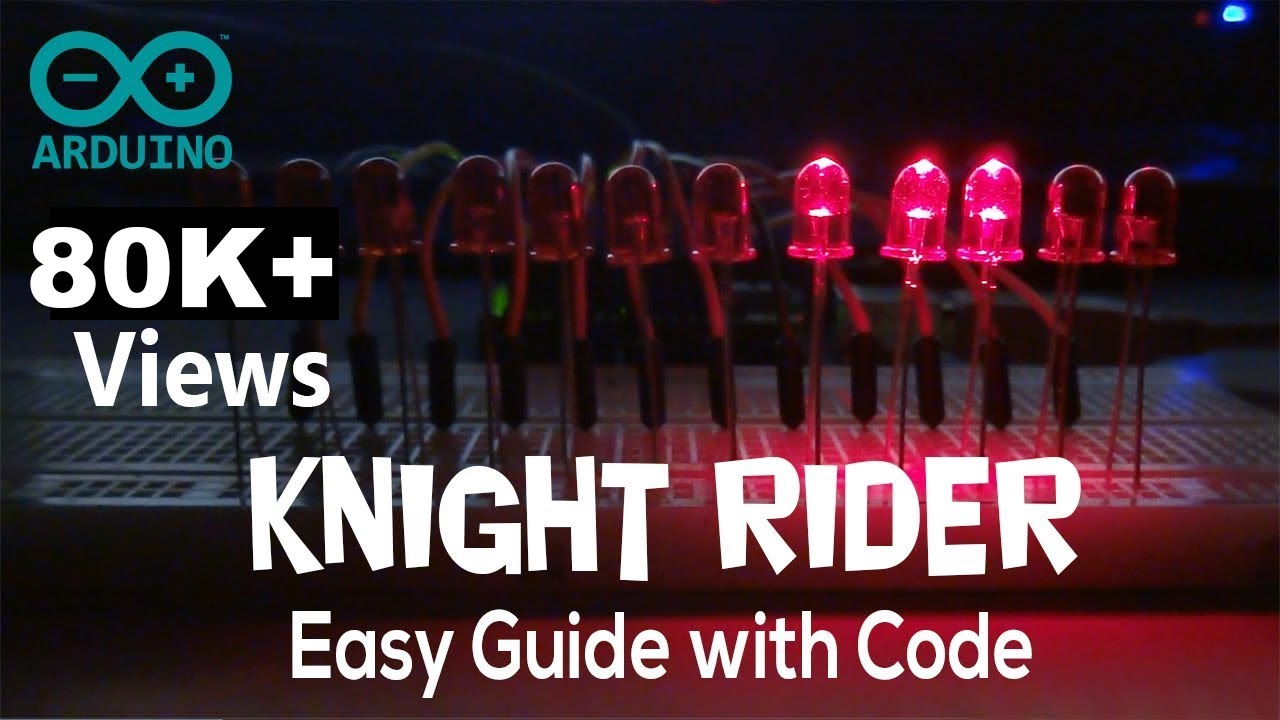 Arduino knight rider example with code youtube