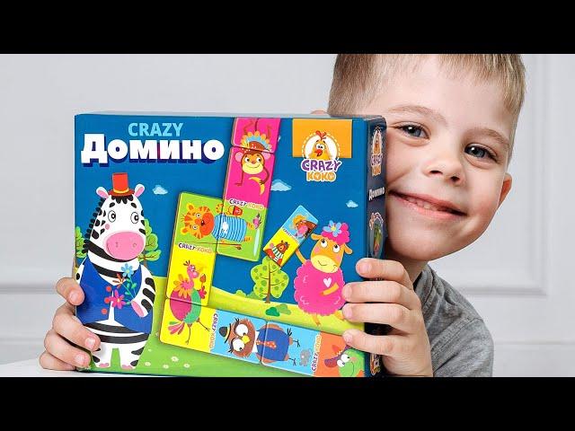Vladi Toys VT8055-04 Настольная игра CRAZY Домино