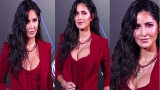 Katrina Kaif Looks Sizzling H0T in Red Pant Suit at GQ 100 Best Dressed Awards 2019