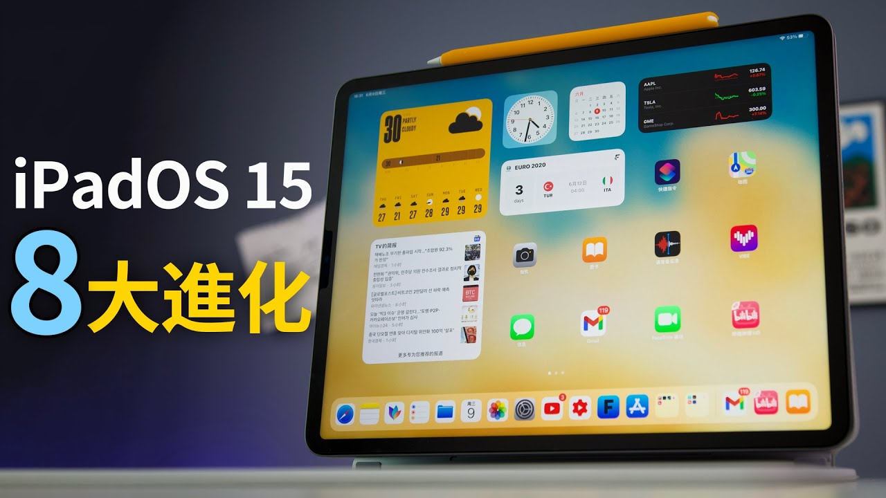 iPadOS 15獨享的8大超絕進化!但我更願意稱它為快捷鍵OS15?|大耳朵TV