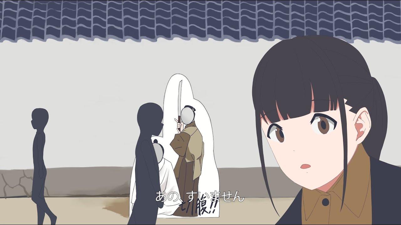自主制作アニメ「顔出しパネル」
