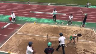 第59回全日本中学校通信陸上競技県大会 女子幅跳び 予選1位 山本渚