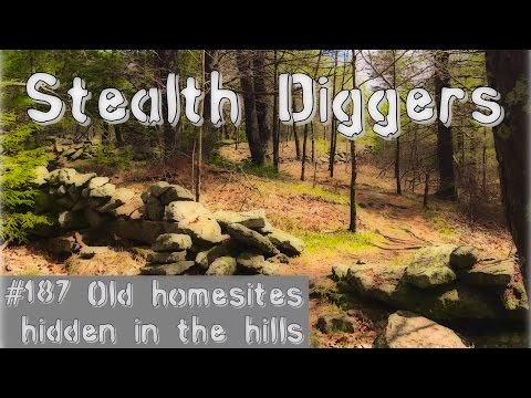 #187 Old homesites hidden in the hills - metal detecting long abandoned homes NH