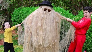long hair suit, pretend play funny videos for kids