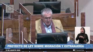 Nueva Ley de Extranjería y Migración Debate en sala senado 19 8 2020