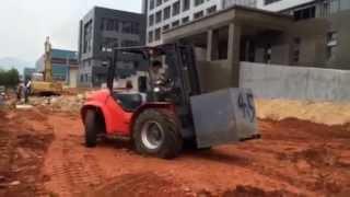 видео Внедорожный вилочный погрузчик Maximal FD35T-CWE3