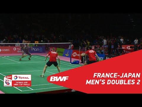 Thomas Cup | MD2 | GICQUEL/LABAR (FRA) vs ENDO/WATANABE (JPN) | BWF 2018