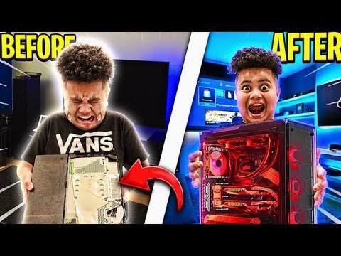 Download DESTROYING MY LITTLE BROTHERS GAMING SETUP & SURPRISING HIM WITH HIS DREAM PC!!! RAGING & EMOTIONAL!