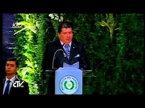 Le Pape rencontre les autorités et le corps diplomatique du Paraguay
