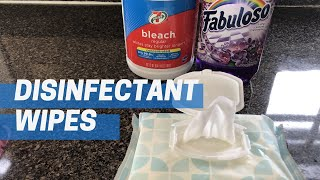 DIY DISINFECTANT WIPES  2 Ways!  HOMEMADE CLOROX WIPES