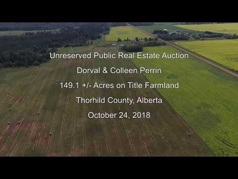 Agricultural land for sale in Thorhild County, AB – unreserved auction Oct 24, 2018