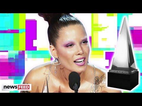 Halsey SHADES Grammys In AMAs Acceptance Speech!