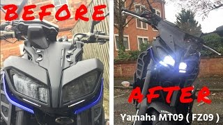 MT-09 ( FZ-09 ) 2017 Fly Screen - Genuine Yamaha Fly Screen How to Guide - Install