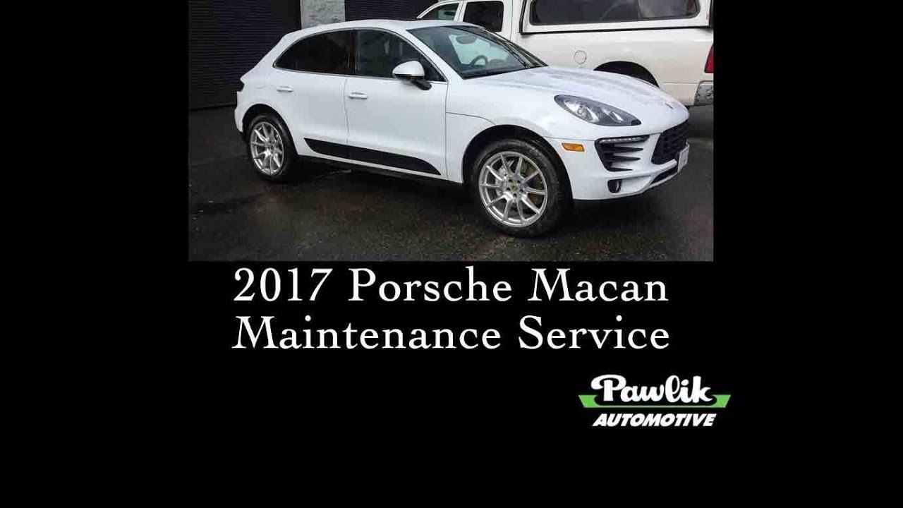 2017 Porsche Macan Service