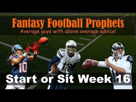 Start 'em or sit 'em week 16 Fantasy Football 2017
