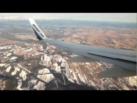 Landing at Calgary Airport (YYC) on WestJet 737